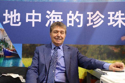 北賽普勒斯觀光部長參加台北旅展北賽普勒斯土耳其共和國以「地中海的珍珠」標語行銷旅遊,首度參加台北國際旅展。其觀光與環境部長于斯泰爾(圖)8日說,「希望在北賽接待台灣遊客」。中央社記者何宏儒攝   108年11月9日