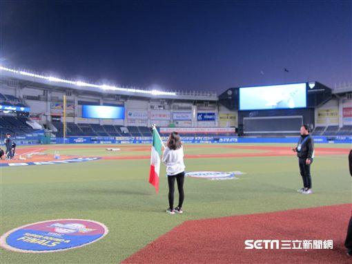 ▲千葉羅德海洋球場世界棒球12強賽台灣中華民國國旗中華台北。(圖/記者蕭保祥攝影)