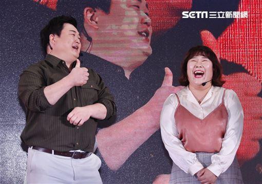 ▼▲(圖/記者林聖凱攝影)韓星金峻鉉與金珉京在韓國節目《好吃的傢伙們》吃遍美食引發網友追隨