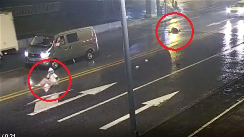 驚悚畫面曝光!情侶馬路中央吵架 女被撞飛慘死…男崩潰