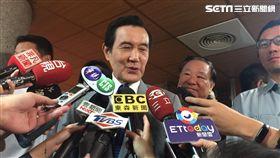 馬英九出席張老師成立50週年活動受訪,(圖/記者李依璇攝影)