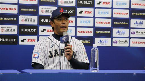 ▲日本隊監督稻葉篤紀僅在面對日本媒體聯訪時才願說出對於台灣球員、球場的真心話。(資料照。圖/棒協提供。)