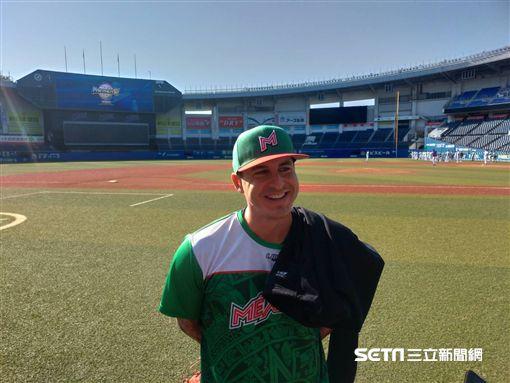▲統一獅左投Ryan Verdugo(瑞安)在世界棒球12強賽效力墨西哥。(圖/記者蕭保祥攝影)