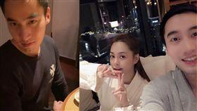 阿嬌老公賴弘國(左)被微博用戶「扒圈老祖」爆夜會女網紅。(圖/翻攝自微博)