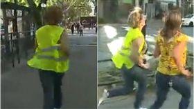 市長,跑步,逃跑,訪問,記者,智利,轉移,36計,兵法,Evelyn Matthei,政治, 圖/翻攝自YouTube