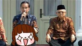 總統,坐姿,印尼,模仿,芭蕾,Joko Widodo,內閣,瑜珈,柔軟度,姿勢, 圖/翻攝自臉書