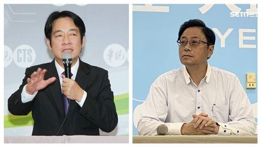 前行政院長賴清德,國民黨總統參選人韓國到瑜副手張善政。(組合圖)