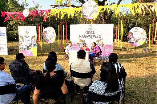 學者專家探討如何保護印度東北獨特文化印度東北嘉年華會8日到10日在新德里舉行,除呈現獨特文化,推廣觀光,也邀請專家學者探討如何保存自身文化及語言。中央社記者康世人新德里攝  108年11月11日