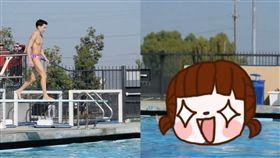 跳水,學校,比賽,Belly Flop,肚子,肚皮,落水,美國,疼痛,學生,加州,水平,入水, 圖/翻攝自IG