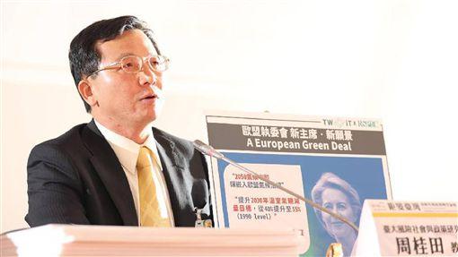 啟動長期能源轉型報告發布記者會台灣大學風險社會與政策研究中心12日舉辦「鉅變台灣:啟動長期能源轉型」報告發布記者會,總計畫主持人、台大國家發展研究所教授周桂田指出,如果還以現在低電價的架構,去支持低附加價值的產品、低薪的環境等,對台灣的長期競爭是不良的。(主辦單位提供)中央社記者張雄風傳真 108年11月12日
