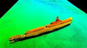 苦苦搜尋75年,美國最近終於在日本沖繩外海找到二戰期間失蹤的海軍潛艦「灰鯨艦」。圖為水下歷史遺跡調查機構Lost 52 Project公布灰鯨艦的聲納圖像。(圖/翻攝自Lost 52 Project網頁lost52project.org)