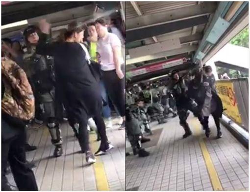 香港,反送中,孕婦,胡椒水(圖/翻攝臉書)