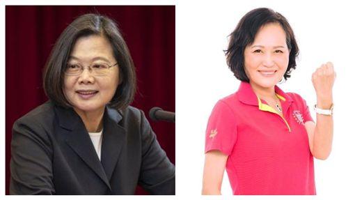蔡英文總統,立法院長蘇嘉全妻子洪恒珠。(組合圖/總統府提供,翻攝洪恒珠臉書)