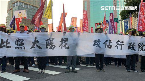 太陽花,退警,抗議,台北,記者陳啓明攝