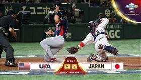 ▲美國隊成功串連安打,以4:3險勝日本。(圖/翻攝自WBSC臉書)