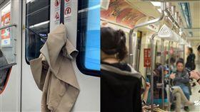 大衣遭卡列車上!OL趕著上班「直接脫」網笑:生活不容易(合成圖/翻攝自澎派微博、資料照)