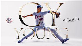 ▲狄格隆(Jacob deGrom)連莊國聯賽揚獎。(圖/翻攝自MLB推特)