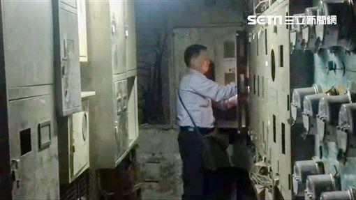 台北市大同區皇泰極養生館遭斷水斷電(翻攝畫面)