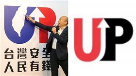 韓國瑜競選LOGO,FCCLA圖像 組合圖/韓國瑜辦公室提供、翻攝自FCCLA官網