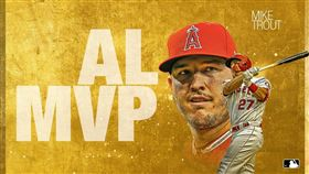 ▲楚奧特(Mike Trout)獲選美聯MVP。(圖/翻攝自MLB推特)