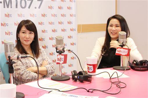劉宥彤、蔡沁瑜 圖/Hit Fm《周玉蔻嗆新聞》製作單位提供
