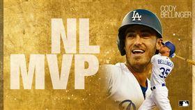 ▲貝林傑(Cody Bellinger)奪下國聯MVP。(圖/翻攝自MLB推特)
