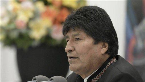 瓜地馬拉原住民,街頭遊行,相挺,玻利維亞前總統,莫拉萊斯(圖/中央社)