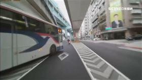 公車違規急切 新手女騎士驚嚇險撞車