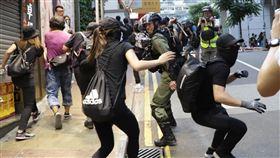 香港,港中大科大,畢業典禮,反送中,學生示威(圖/中央社)
