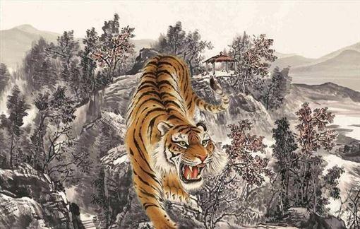 石獅子,老虎