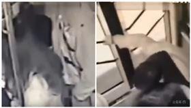 中國貴洲公車色狼,遭到14歲女學生鎖喉制伏。(圖/翻攝自YouTube)