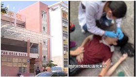 中國廣東珠海市,一名12歲少女墜樓,因數學老師罵太兇。(圖/翻攝自廣東DV現場)