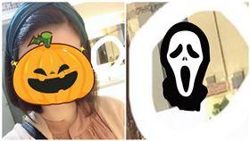 靈異公社,台中女網友在百貨廁所自拍,拍到恐怖的白臉長髮女子。(圖/翻攝自靈異公社)