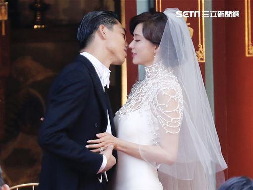 林志玲、AKIRA(黑澤良平)/婚禮/全臺吳姓大宗祠。記者林聖凱攝影