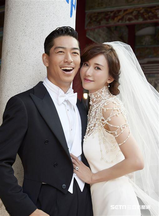 第一名模林志玲與日本「放浪兄弟」成員AKIRA婚紗照。(Ralph Lauren提供)
