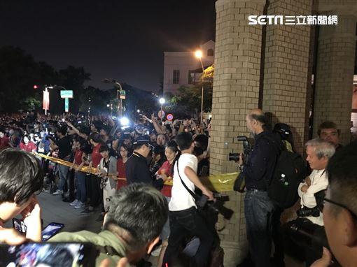 林志玲南美館婚宴現場急拉封鎖線 圖/記者邱于倫攝影