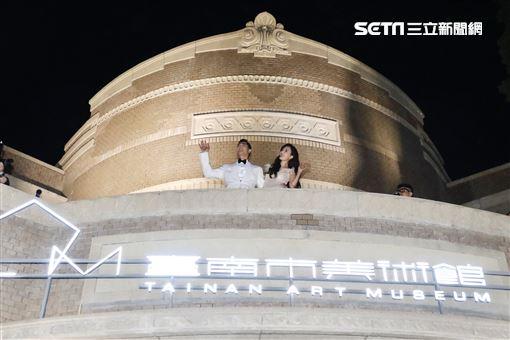 林志玲 AKIRA 台南第一美術館 第二套禮服 圖/記者林聖凱攝影