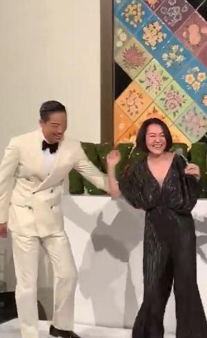 林志玲,AKIRA,婚宴,蔡康永,小S,合體,康熙來了  翻攝自林健寰臉書