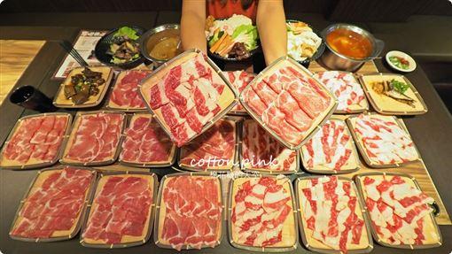 火鍋店肉片