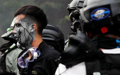 港警,香港,理大,理工大學(18日)圖/路透社/達志影像