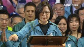 總統蔡英文在(17)日現身全國競選總部成立大會