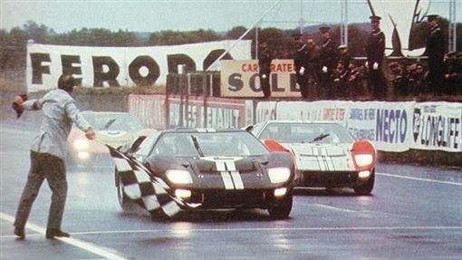 ▲Ford在1966年的「利曼24 小時耐力賽」成功打破Ferrari 五連冠紀錄,一舉奪下該賽事前三名。(圖/Ford提供)