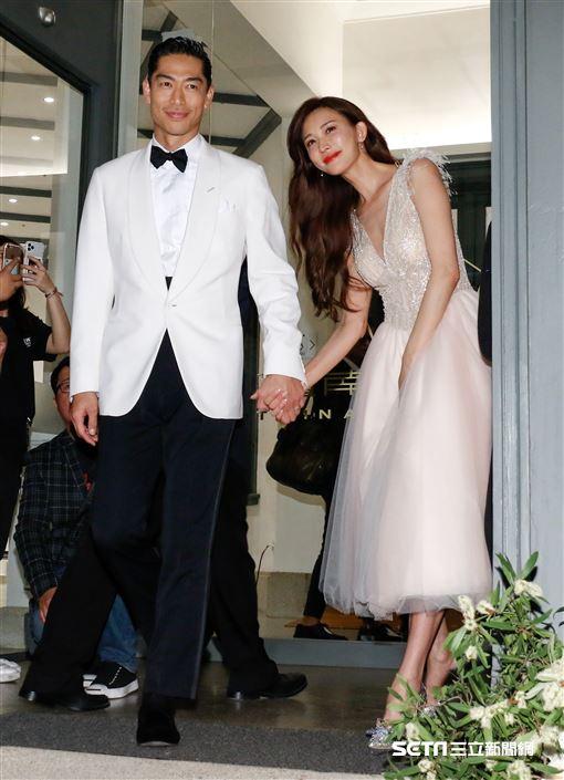 林志玲和AKIRA世紀婚禮。(圖/記者林聖凱攝影)