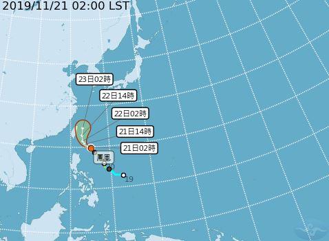 第27號颱風「鳳凰」,路徑(圖/翻攝自中央氣象局)