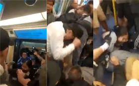香港,反送中,地鐵,乘客暴打女學生(圖/翻攝自天盛打手事務所臉書)