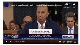 美國駐歐大使,桑德蘭,川普彈劾調查,施壓烏克蘭,人人有份(圖/截圖自youtube)