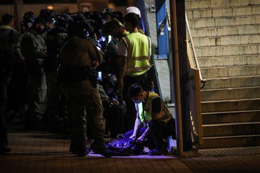 美國,通過,涉港人權法,香港,必成輸家(圖/中央社)