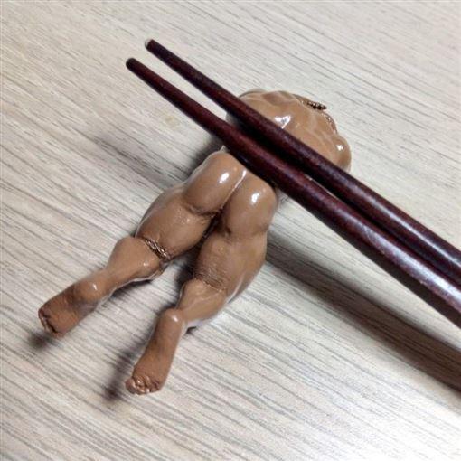 筷架,猛男,3D列印,肌肉男,遐想