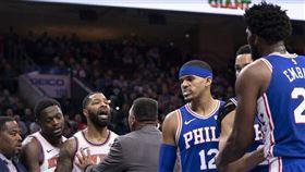 NBA/卡位釀衝突!推特王賽後遭嗆 NBA,費城七六人,Joel Embiid,紐約尼克,Marcus Morris 翻攝自推特