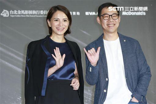 金馬電影《夕霧花園》記者會導演林書宇,主演李心潔。(圖/記者林士傑攝影)